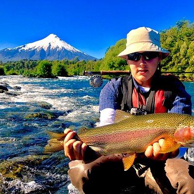 Fishing at Petrohue River