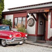 Vintage car Vintage building