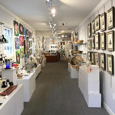 Inside the gallery- a wide variety of different art styles. Come in and see ever changing art from talented local artists.