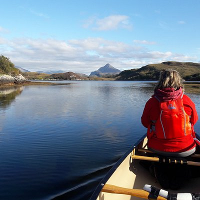Loch Laxford with Ben Stack in the background. This is the location for our seafood special canoe trips.
