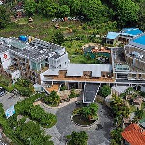 Pemandangan Aruna Senggigi Resort and Convention dari atas