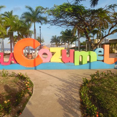 cozumel island sign