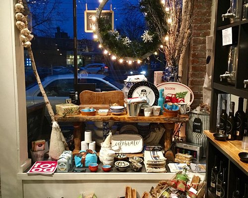 The holiday display at Olive Connection