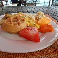 Breakfast with waffle