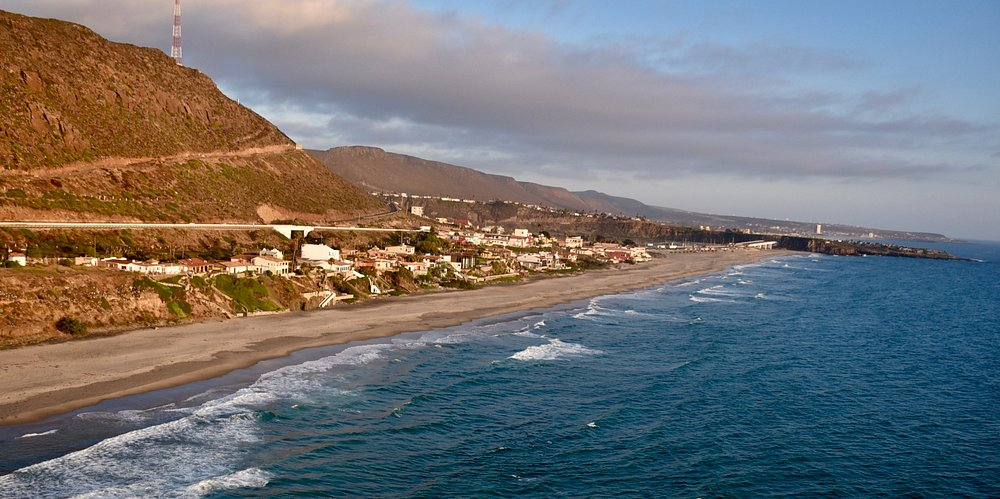 Great spot in La Mision BC Mexico. Half way between Ensenada and Rosarito. Mile long beach. Lots of sun, sand and surf! Many rentals right on the sand.