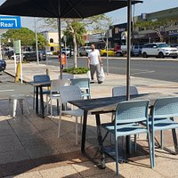 Babalinos Bakery Ballina outdoor eating area