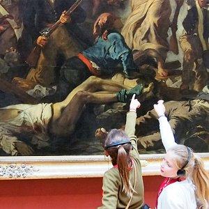 Les grands chef d'oeuvre du Louvre expliqués aux enfants