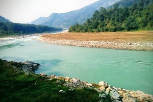 the river bank of teesta India great place for sun bath