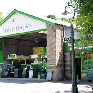 Our replica Southdown bus garage.