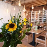 sunflowers in our cosy restaurant