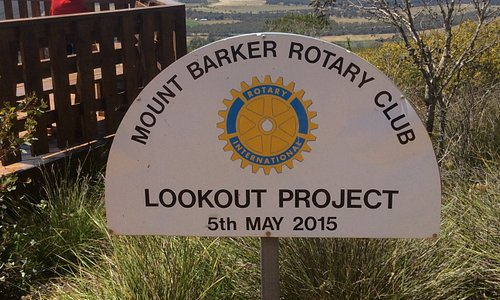 Rotary sign at the lookout
