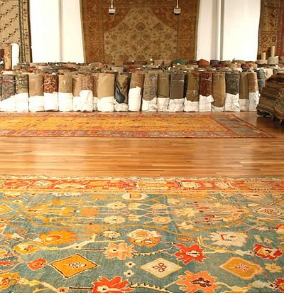 Interior picture of the Nazmiyal Antique Rugs Gallery