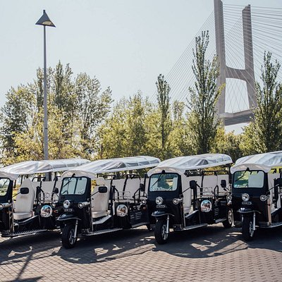 Our tuktuk fleet ready and waiting for you