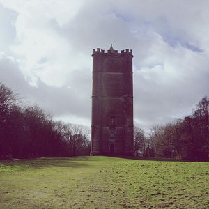 King Alfred's Tower on the Stourhead estate. What's most impressive about this place is how massive it is in person. Highly recommend the walk there from the main Stourhead gardens (though it's a trek!). Sometimes, they even open the tower and you can climb to the top and it has amazing views.