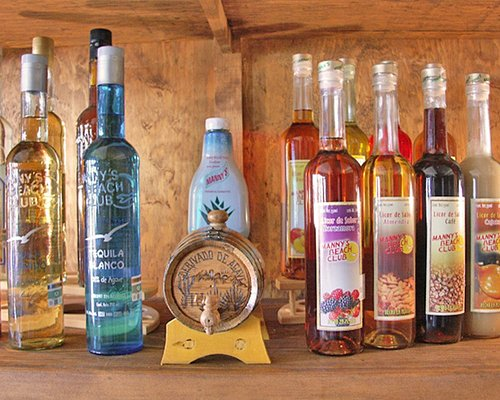 Tequila factory offers various types of tequilas and tequila flavored liquors. Gift shop and restaurant.
