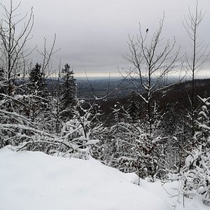 Hiking Rownica mountain at New Year day