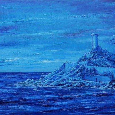 """""""Paradís Blau"""" Cuadro Marines de Blanco Grané En ART GALLERY BLANCO GRANÉ. Tossa de Mar"""