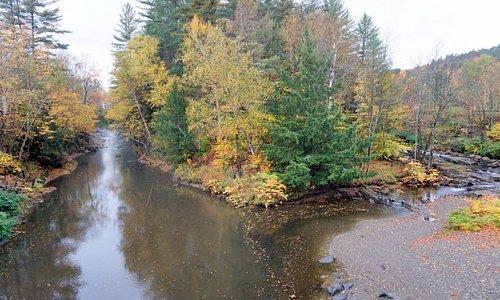 Vista do rio que passo sob a ponte