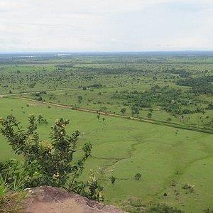 Vista a partir do mirante onde vemos toda a planície de Guajará Mirim