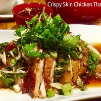 Crispy skin chicken with Thai sauce