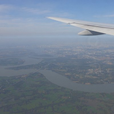 Il Saigon river dall'aereo