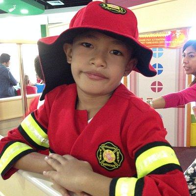 My little fireman