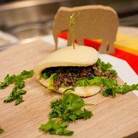 Ground beef bun