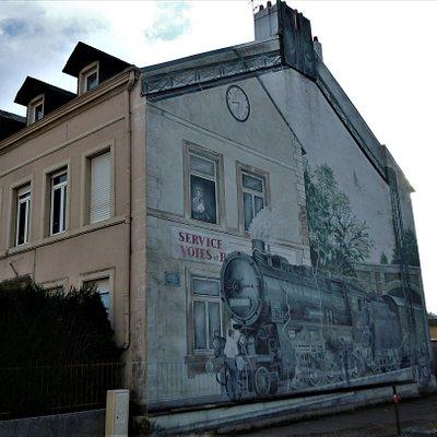 La fresque sur la maison