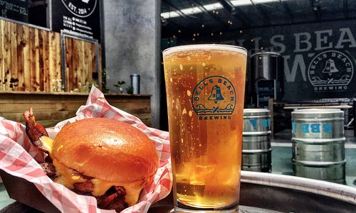 Bells Beach Brewing taproom serves great food as well