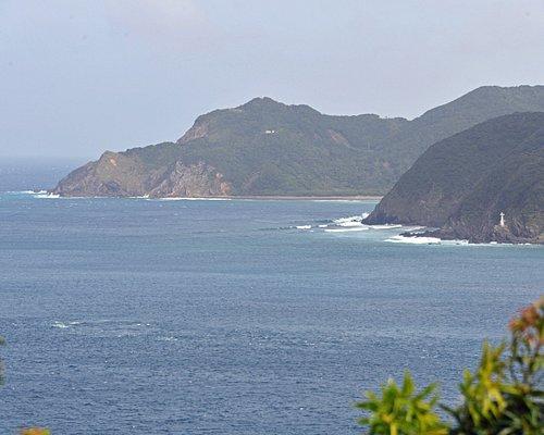 展望台からの眺めで崖が続くダイナミックな景色が眺められる