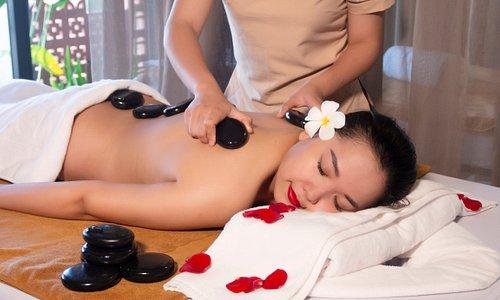 enjoy our hot stone massage