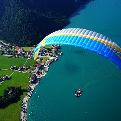 In der Luft kann nun der ganze Achensee bestaunt werden.