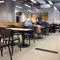 Area of cafeteria style seating