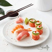 Choose from our half-price classic sushi between 12h00 and 17h00 every day