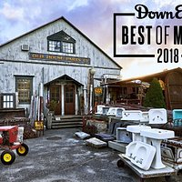 """We are Downeast Magazine's 2018 Editors' Choice for """"Best Cult Architectural Salvage Emporium""""!"""