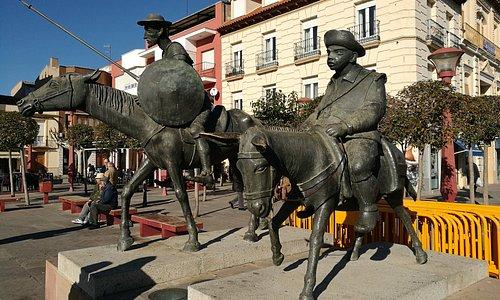Don Quijote y Sancho.
