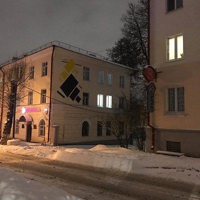 супрематические композиции на улице Марка Шагала