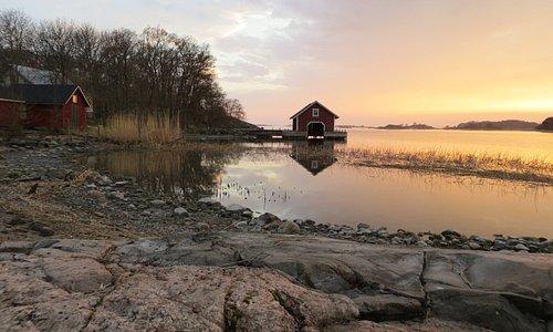 Island Berghamn in the  early summer.