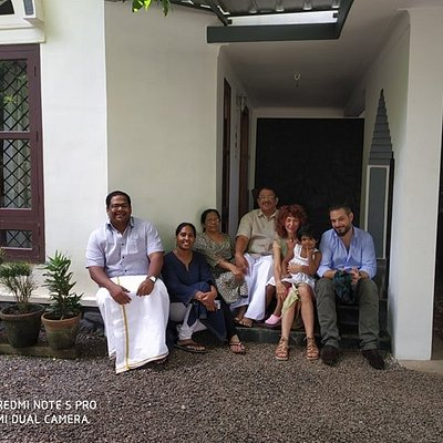 When Alex and Roberta visited our native village on the way to Kumarakom from Periyar