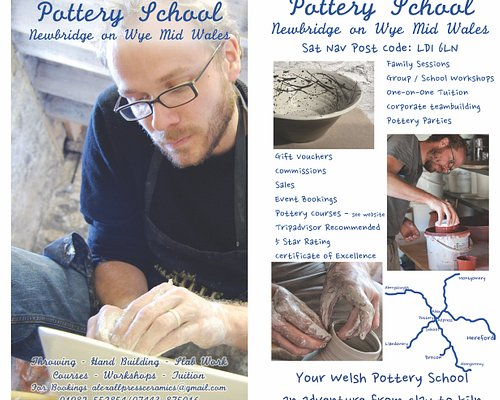 """Alex Allpress Pottery School - Mid Wales...from clay to kiln - your Welsh Pottery School here is Newbridge on Wye:  """"Reviewed 7 October 2018 via mobile Great afternoon a Fantastic afternoon with Alex in his great quirky studio. very relaxed and enjoyable and can very much recommend thanks again."""""""