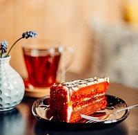 Чай и красный бархат