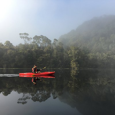 Serene early morning paddle in the Tarkine region is the highlight of our 3 and 5 day West tours