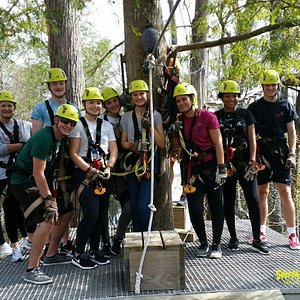 Cypress Canopy Zipline. Zip across our 65 acres and between our Bald Cypress Trees in the Shallotte River Swamp. 10 zip line cable a total of 6000ft of cable, and 3 suspension bridges. 2.5 hour tour.  For ages 10 and up. Weight requirements 70lbs-250lbs. Visit our website: www.swamppark.com and book online.