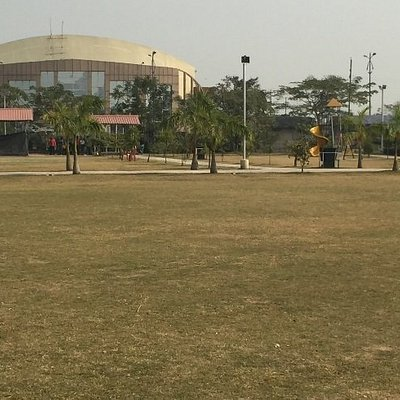 Lawn and distant structure