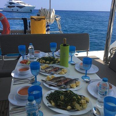 Lunch time :) Kleftiko Milos