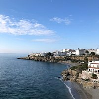 Beach view from the center of Nerja