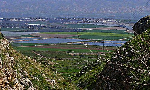 Mount Gilboa - mountain range overlooking the Jezreel Valley in northern Israel