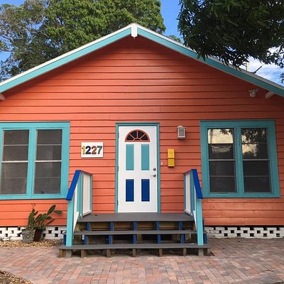ReWorked Creations is located at 1227 12th St. W, at the inter!section of 12th St. W and 13th Ave. W in the heart of the Village of the Arts in Bradenton, FL. Just look for the bright orange house on the corner!