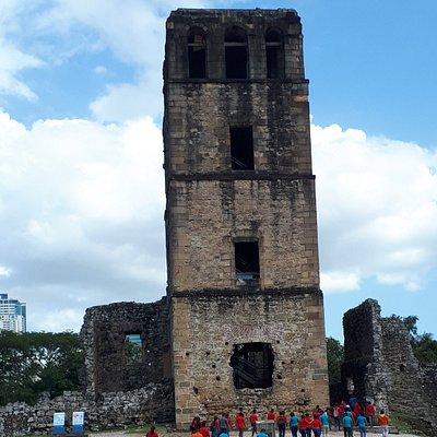 Main Church Tower still stands.