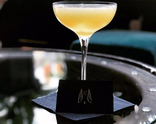 Full Yellowjacket from our Rituals of Refreshment Vol I..  Mezcal, Apricot brandy, yellow chartreuse, celery bitters & pear.